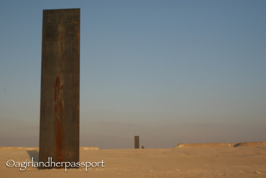 art in the qatar desert richard serra s east west west
