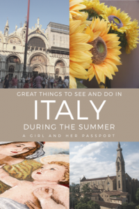 Things to do in Italy During Summer