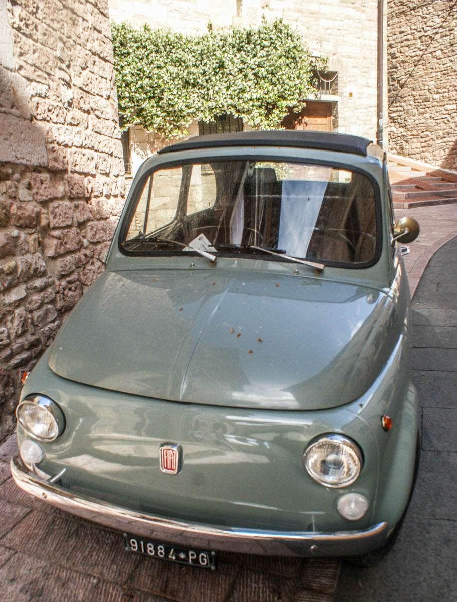 Classic fiat 500 in Italy