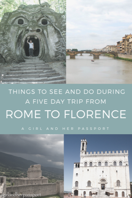 Road Trip from Rome to Florence