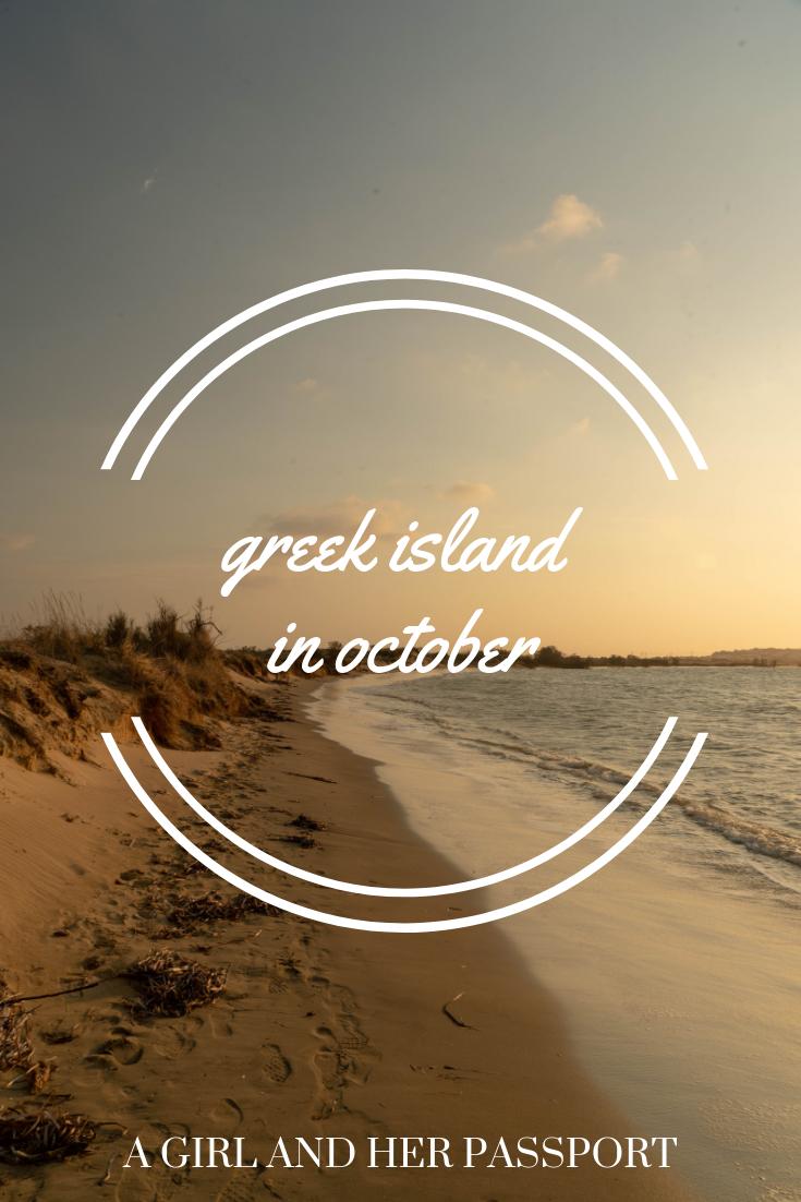 Greek Islands in October