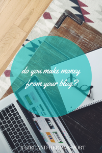 do you make money from your blog