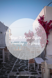 Thing to know before traveling to greece