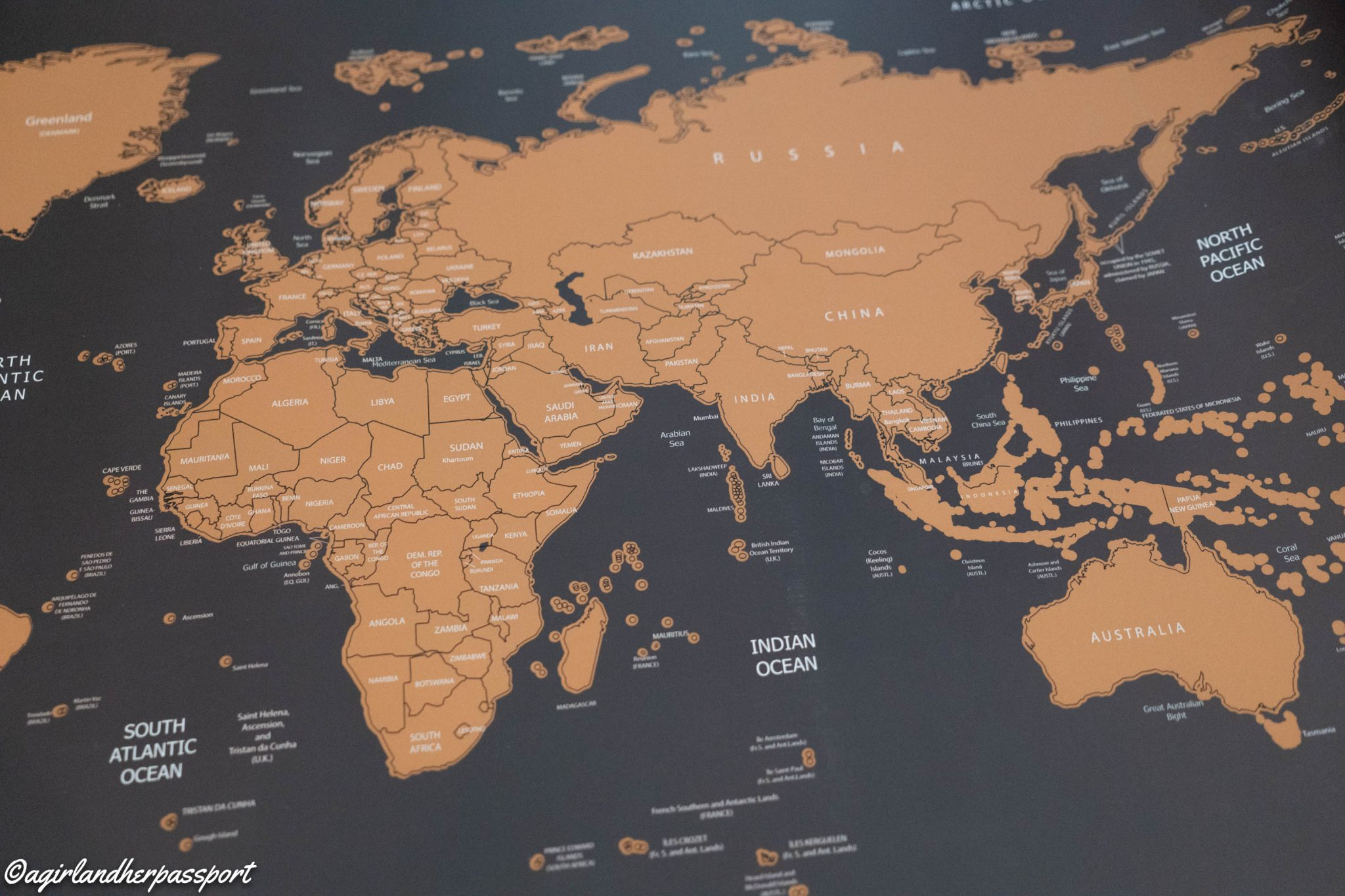 Lazy Monk Scratch Off World Map