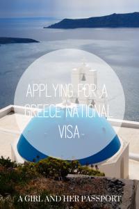 Apply for a Greek National Visa - photo of Santorini