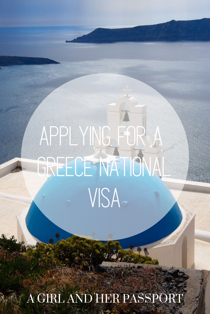 Apply for a Greek National Visa - photo of Santorini