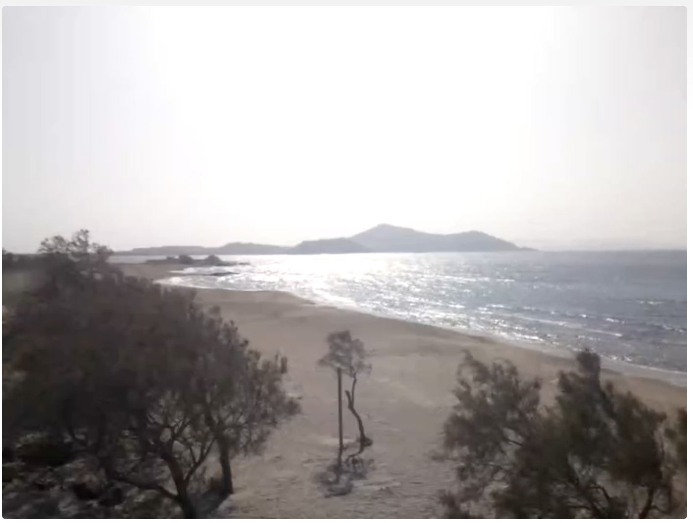 Naxos beach webcam