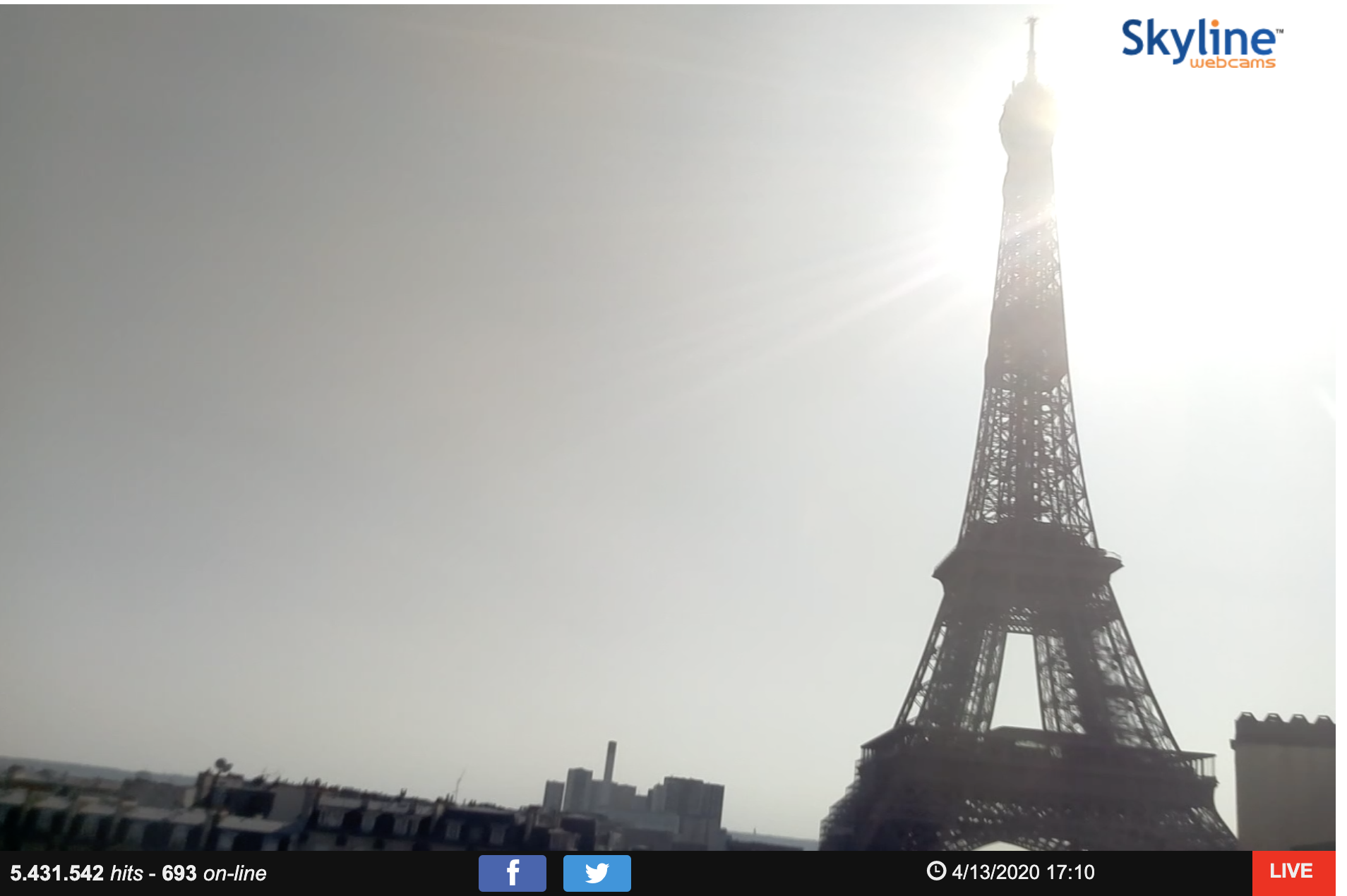 Eiffel Tower webcam