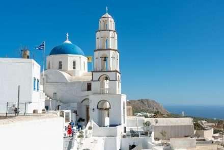 Church in Pyrgos Santorini
