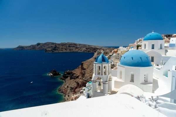 Blue Domed churches in Santorini